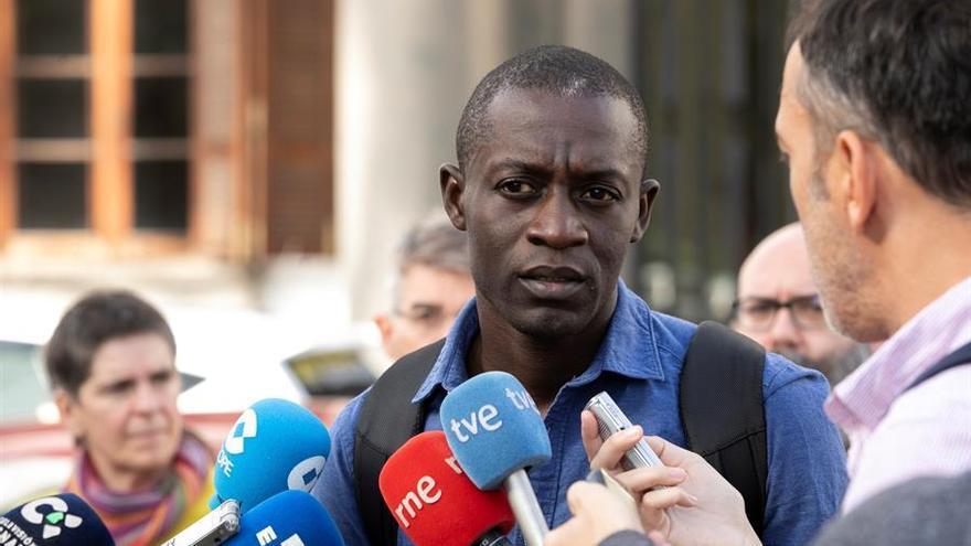 Mame Cheikh, presidente de la Federación de Asociaciones Africanas en Canarias y uno de los portavoces de Canarias Libre de CIE.