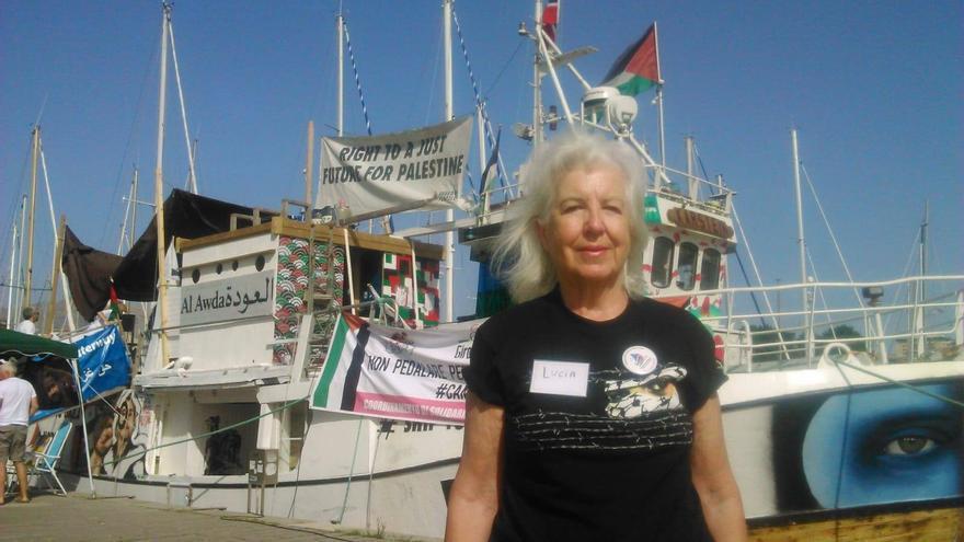 Lucía Mazarrasa, enfermera jubilada, admite que volvería a Gaza después del secuestro. Foto: Rumbo a Gaza