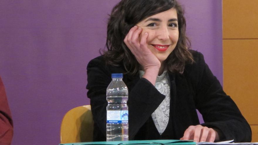 La secretaria general de Podemos Navarra, Laura Pérez Ruano.