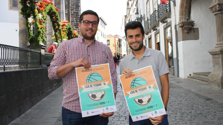 Raico Arrocha, concejal de Deportes del Ayuntamiento Deportivo, y Jairo Ponce de León, representante de la empresa Fitters Eventos Deportivos.