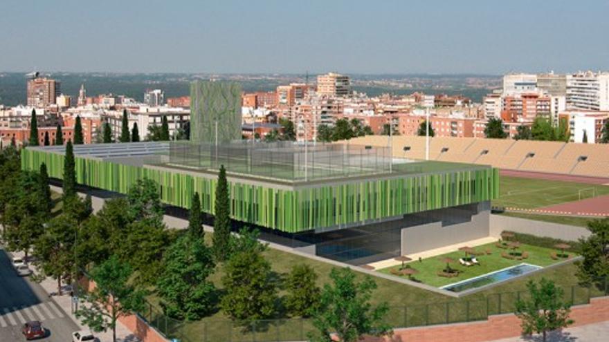 Imagen de cómo quedará el nuevo gimnasio donde estaba el estadio Vallehermoso.