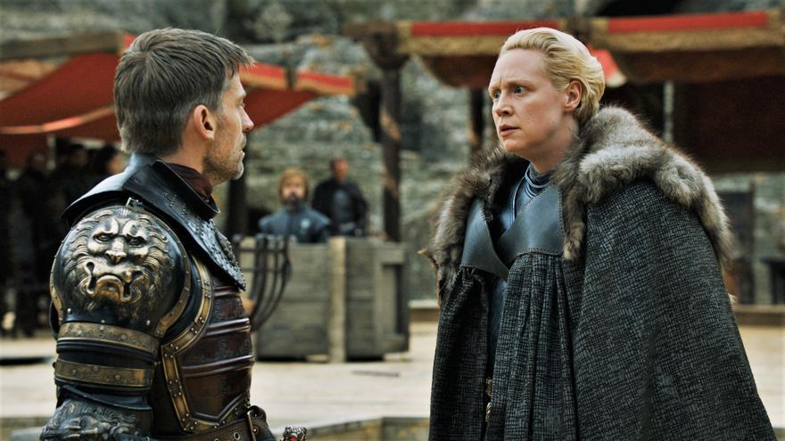 Jaime Lannister y Brienne de Tarth en Juego de Tronos