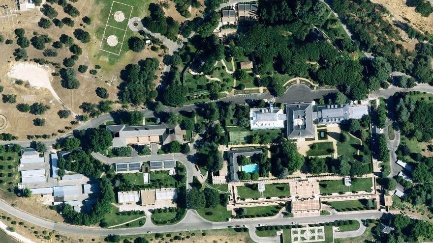 Mapa del Palacio de la Zarzuela, residencia oficial del rey, en Google Maps