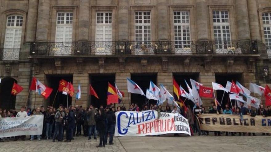 Concentración en Compostela / Praza