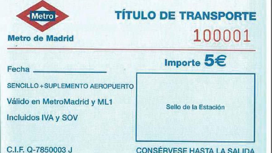 Billete temporal que están repartiendo en Metro ante el colapso por la tarjeta Multi. / @ecomovilidad