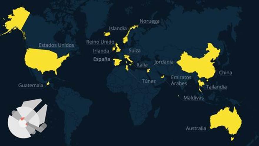 Todos los países en los que se rodó Star Wars