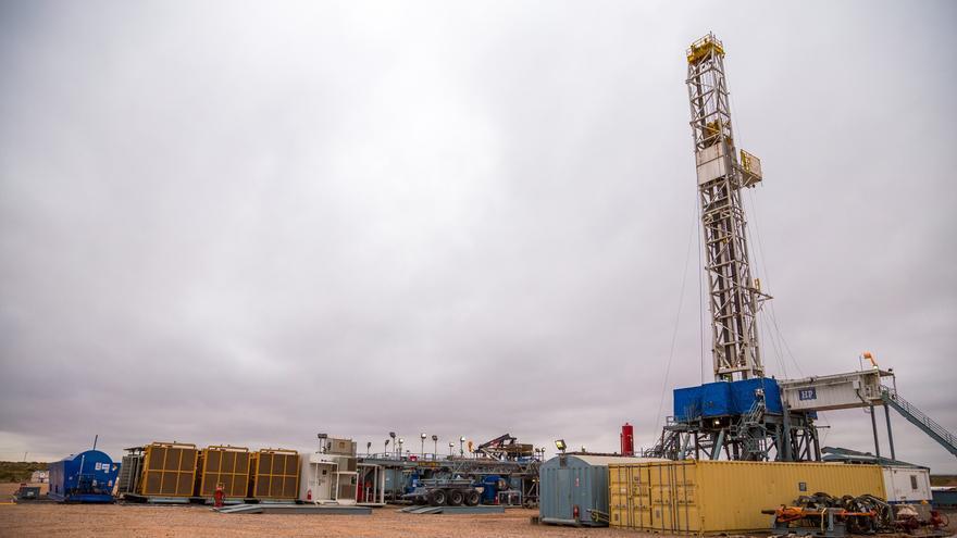 Uno de los pozos de Loma Campana, en la Patagonia argentina, donde YPF explota petróleo no convencional con la técnica del 'fracking'.