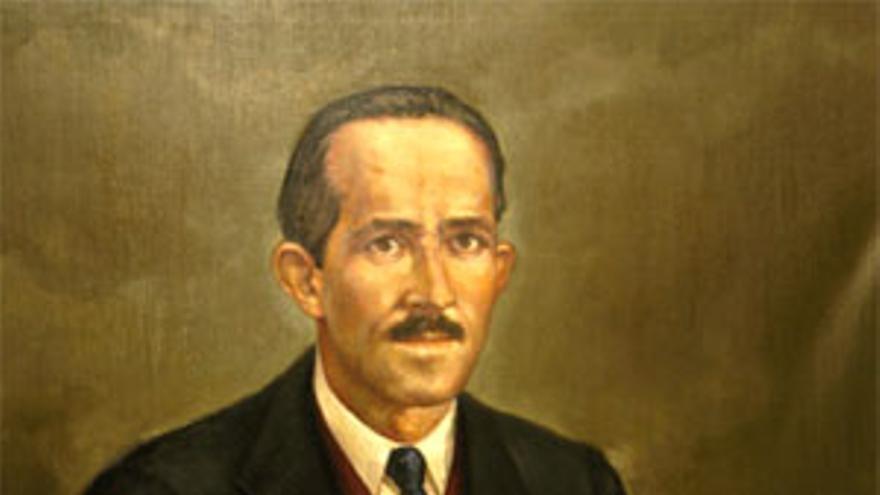 El retrato de Enrique Riaza Martínez está colgado en la galería de presidentes de la Diputación de Guadalajara