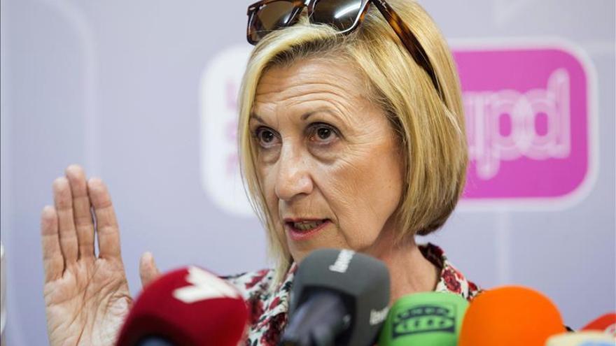 """Rosa Díez cree que los sondeos """"están manipulados"""" para hacer desaparecer a UPyD"""
