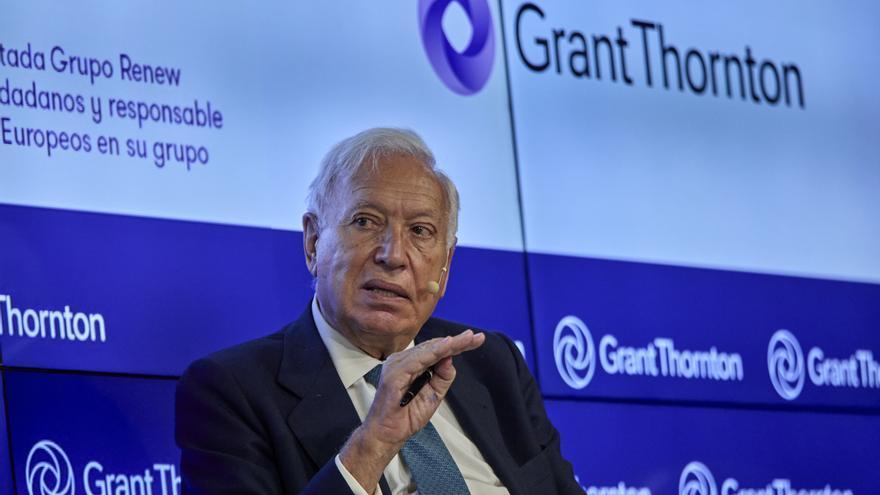 """El exministro de Asuntos Exteriores José Manuel García-Margallo interviene en la inauguración de las jornadas """"Fondos Europeos: tiempo para la acción"""". En Madrid, a 8 de julio de 2021,"""