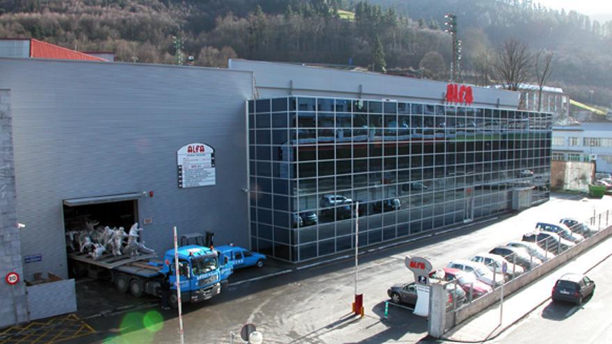 Instalaciones del grupo Alfa en Eibar.