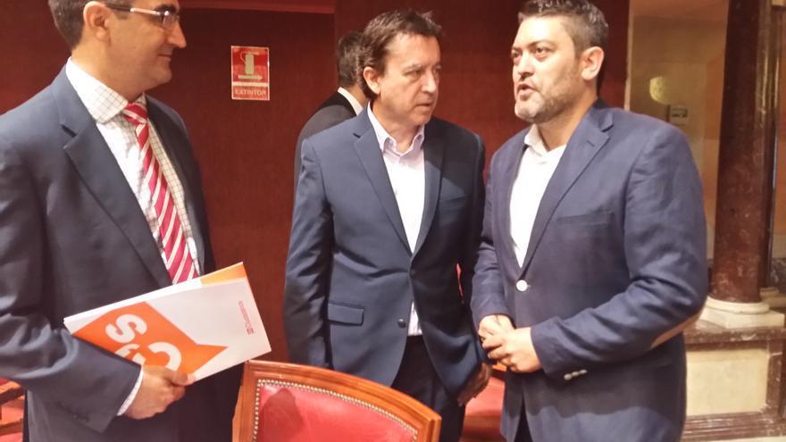 López-Morell, Molina y Sánchez, tres de los cuatro diputados regionales de C's en el Parlamento murciano
