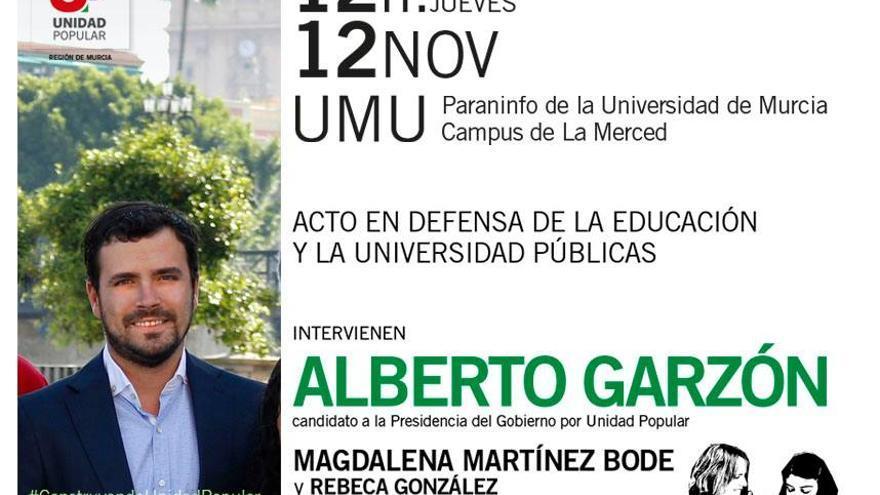 Alberto Garzón visita Murcia este jueves