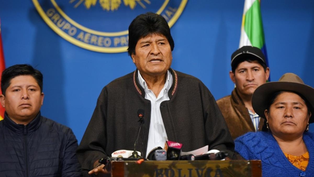 El expresidente Evo Morales