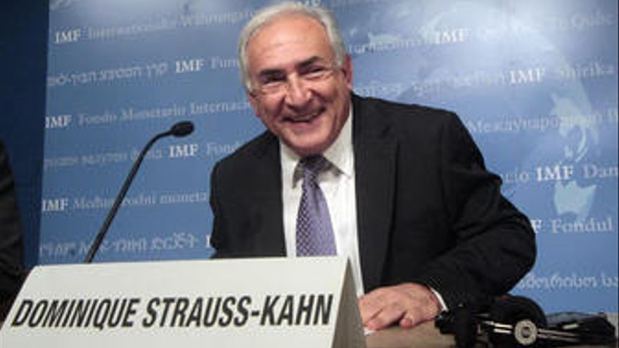 Dominique Strauss-Khan, presidente del FMI