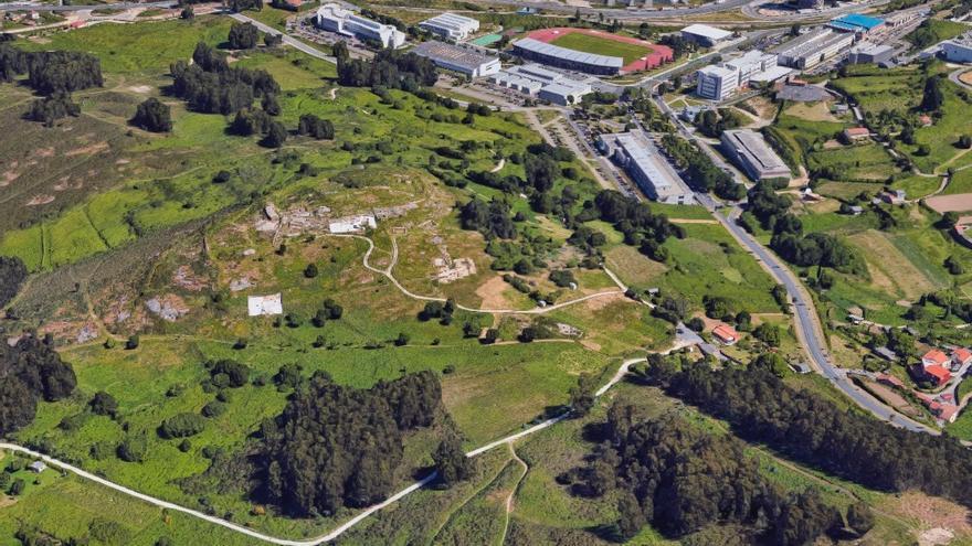 Castro de Elviña y terrenos de su entorno. En A Coruña