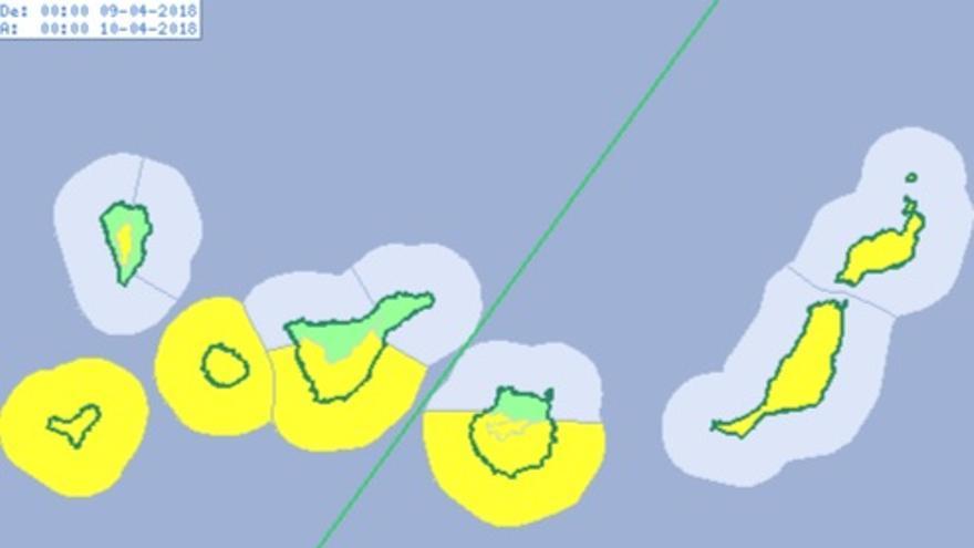 Aviso amarillo El Hierro