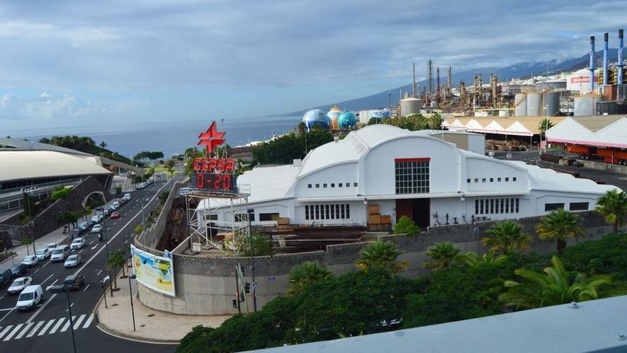 Vista general del Almacén de Cepsa que iba a ser catalogado como BIC por el Gobierno canario.