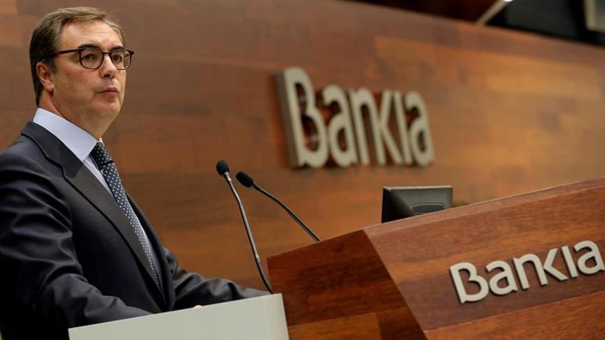 Bankia ganó 816 millones en 2017, un 1,4 por ciento más, sin contar con BMN