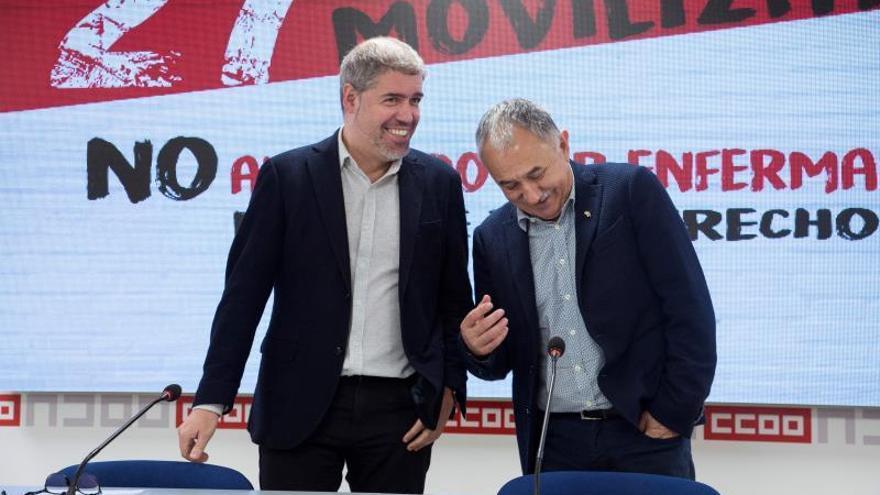 """CCOO y UGT se concentrarán el 27 de noviembre contra """"el despido por enfermar"""""""