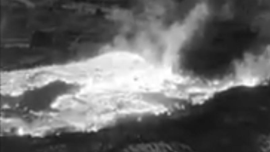 Imagen de la cámara térmica de los bomberos