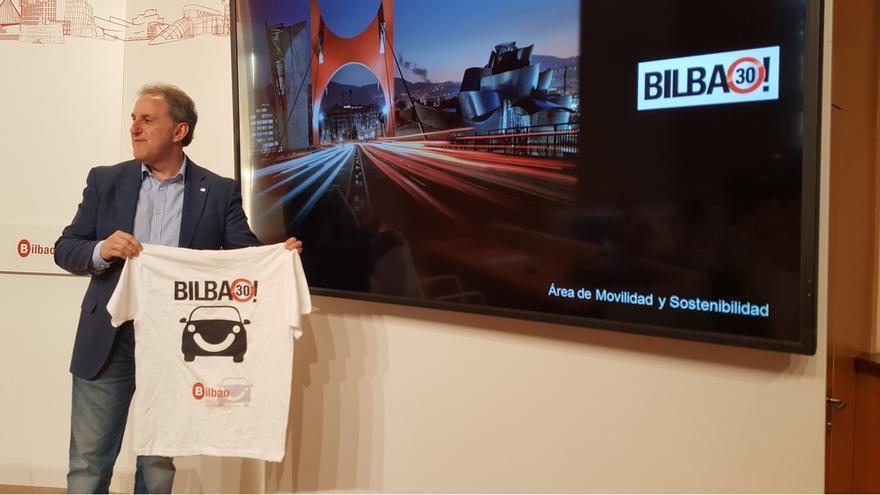 """La campaña """"Bilbao 30-30"""" anuncia que a partir del 30 de junio el límite de velocidad se situará en los 30 km/h"""