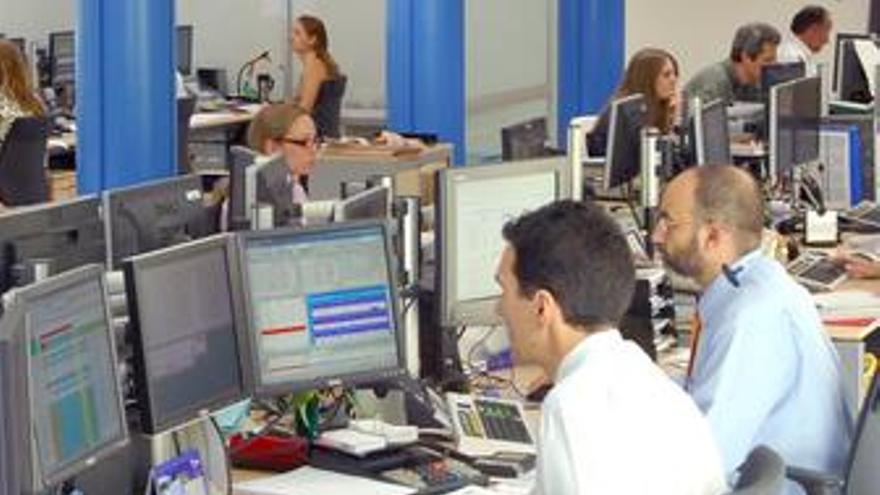 Trabajadores, oficina