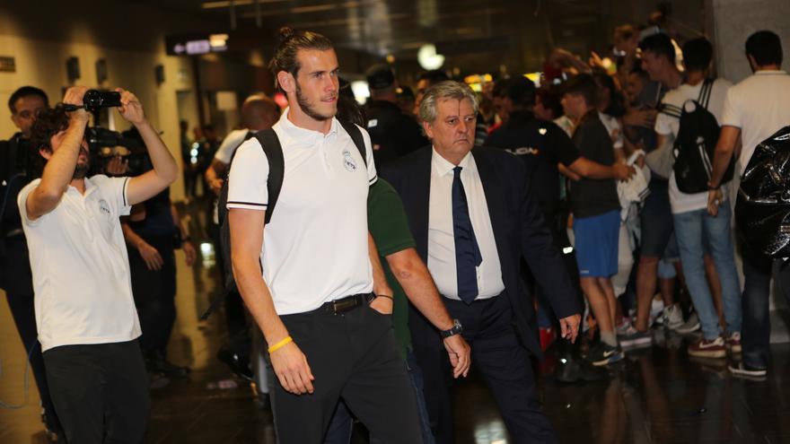 El jugador Gareth Bale, durante un viaje del Real Madrid. (ALEJANDRO RAMOS)
