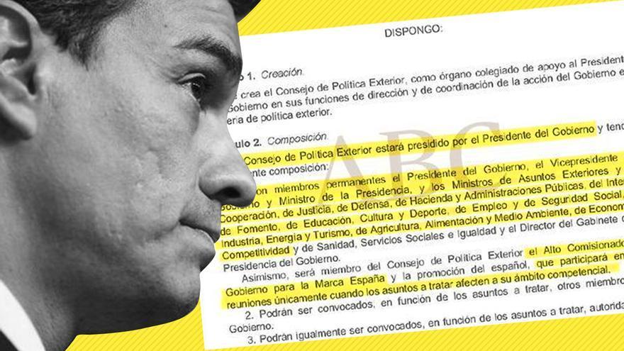 Uno de los textos de la tesis de Pedro Sánchez señalados por ABC
