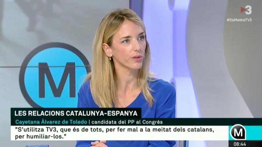 Cayetana Álvarez de Toledo, en TV3.