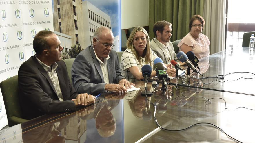 Los consejeros del PP del Cabildo han comparecido este jueves en rueda de prensa.