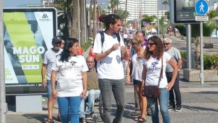 Alberto Rodríguez, en un acto de Unidas Podemos en Tenerife