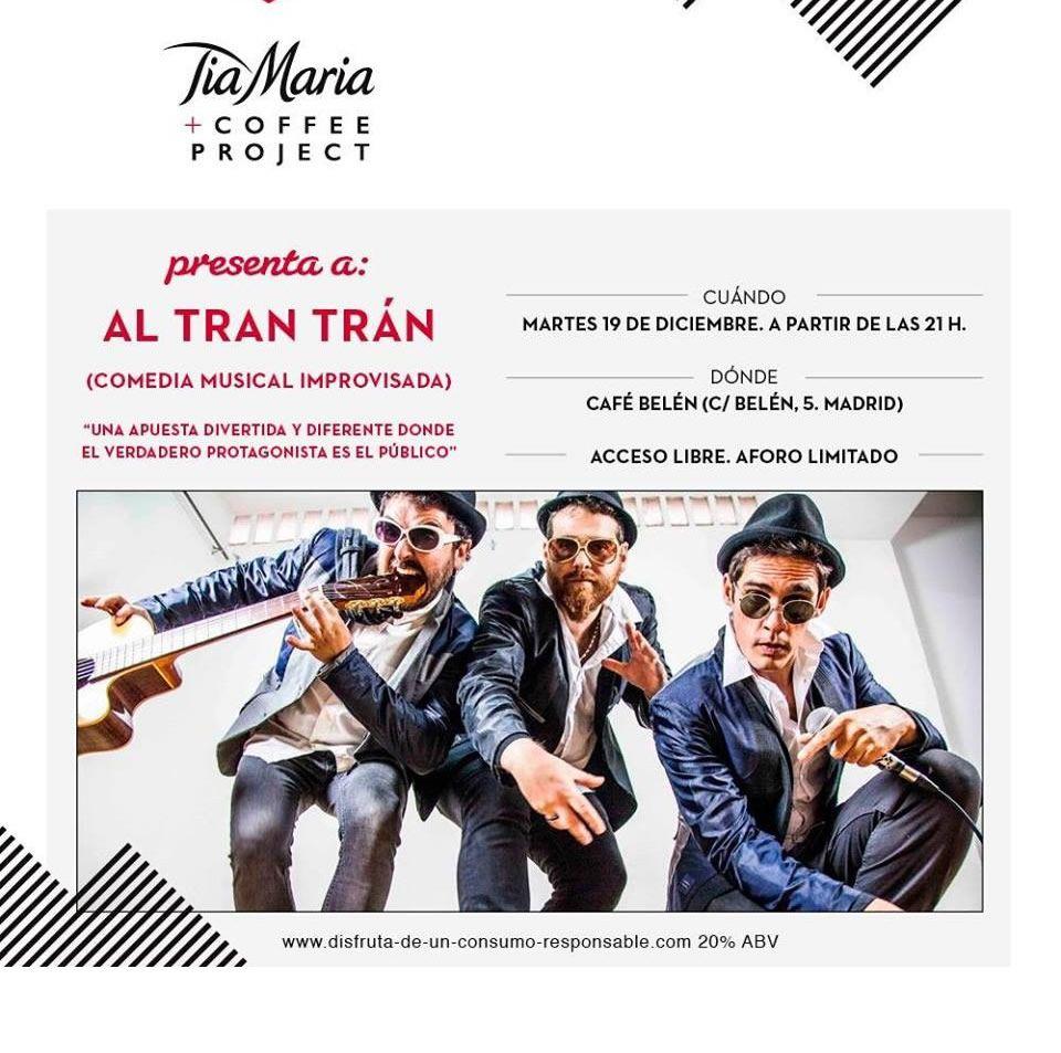 Cartel actuación Al Tran Trán en el Café Belén