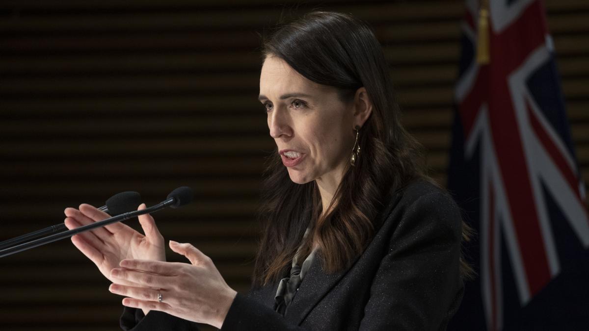 Rueda de prensa de la primera ministra de Nueva Zelanda, Jacinda Ardern, para informar del ataque. EFE/EPA/MARK MITCHELL / POOL/Archivo
