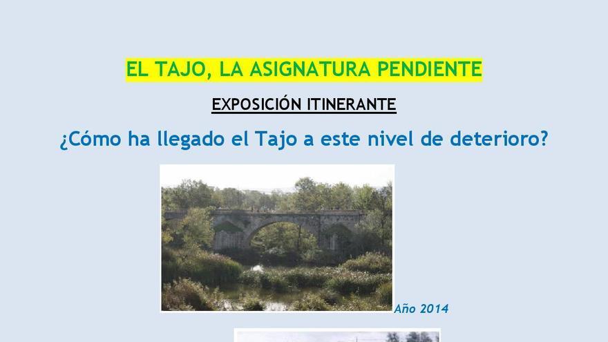 Cartel de la exposición sobre el río Tajo en La Puebla de Montalbán / PSOE