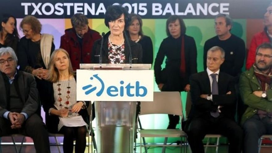 Maite Irturbe durante la presentación del balance de EITB en 2015. Foto: EITB