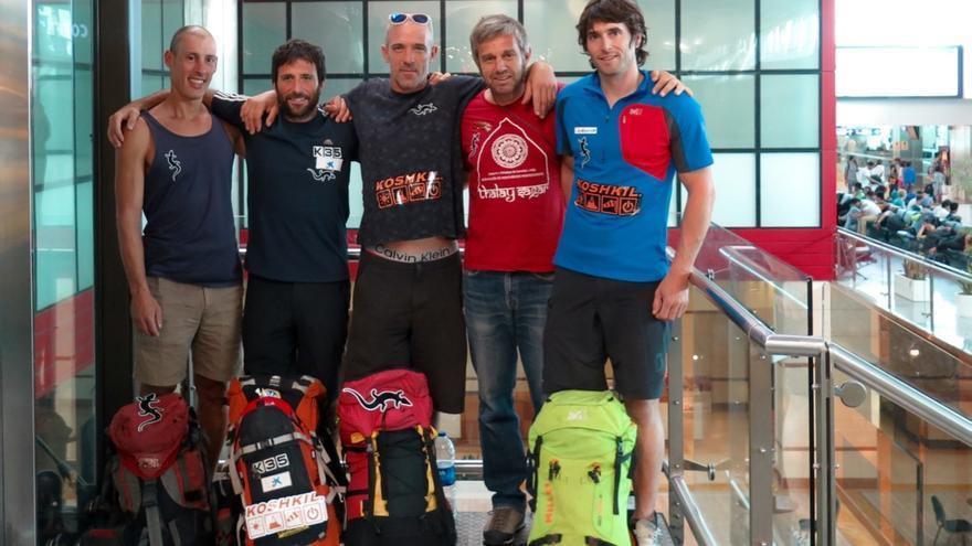 Alex Txikon, Ekaitz Maiz, Felix Criado, Txus Lizarraga, Adrian Legarra.