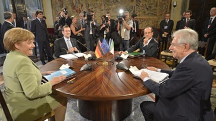 Merkel, Monti, Rajoy Y Hollande, En Una Cumbre Europea