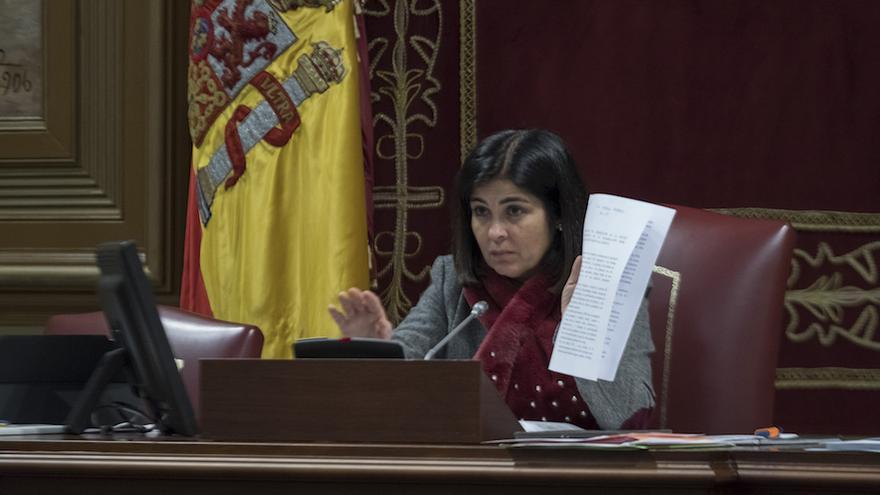 La presidenta del Parlamento de Canarias, Carolina Darias