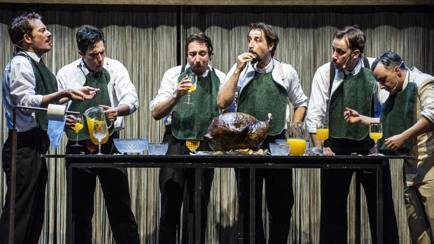 Los protagonistas de la obra de teatro 'Lehman Trilogy'