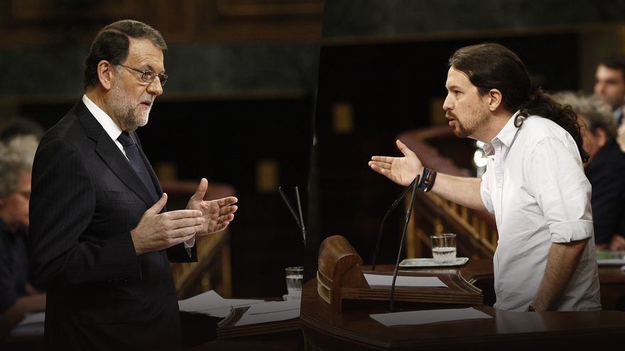 Mariano Rajoy, a la izquierda, y Pablo Iglesias, a la derecha.