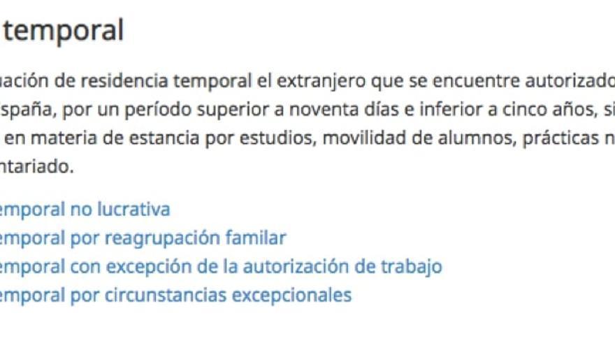 Información de la página del Ministerio del Interior http://www.interior.gob.es/web/servicios-al-ciudadano/extranjeria/regimen-general/residencia-temporal