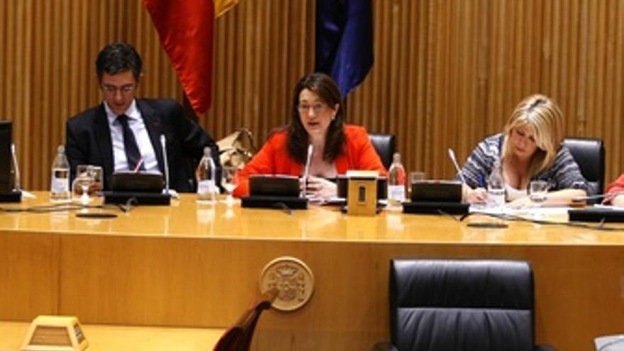 Soraya Rodríguez En La Reunión Del PSOE En El Congreso