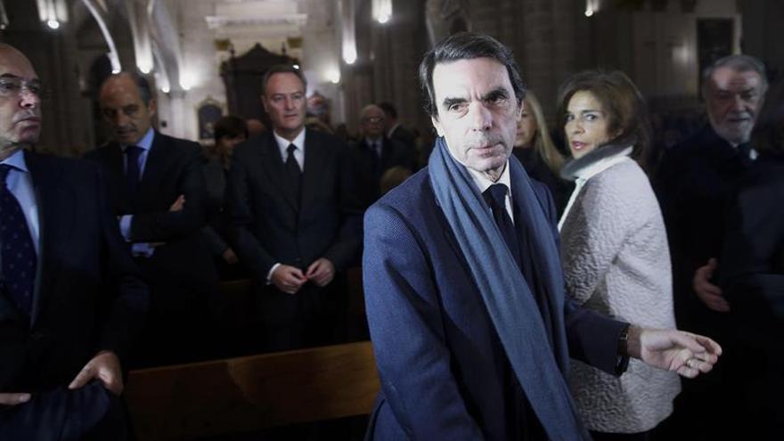 José María Aznar, en el funeral por Rita Barberá.