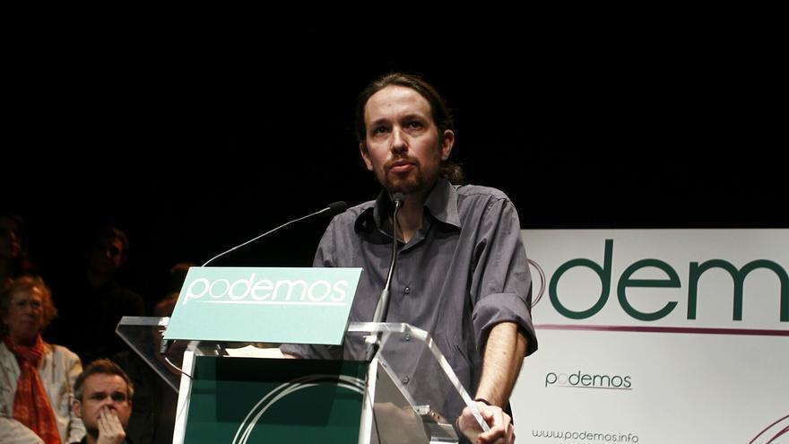 Pablo Iglesias se postula para liderar un gran bloque de la izquierda con IU para las europeas. Foto: EP