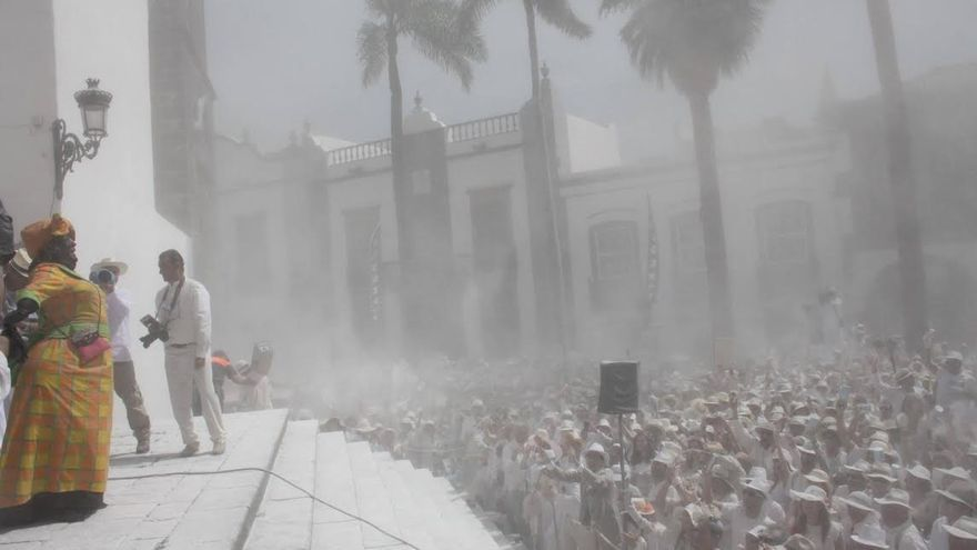 Imagen de archivo de Los Indianos 2014 en la Plaza de España de Santa Cruz de La Palma.