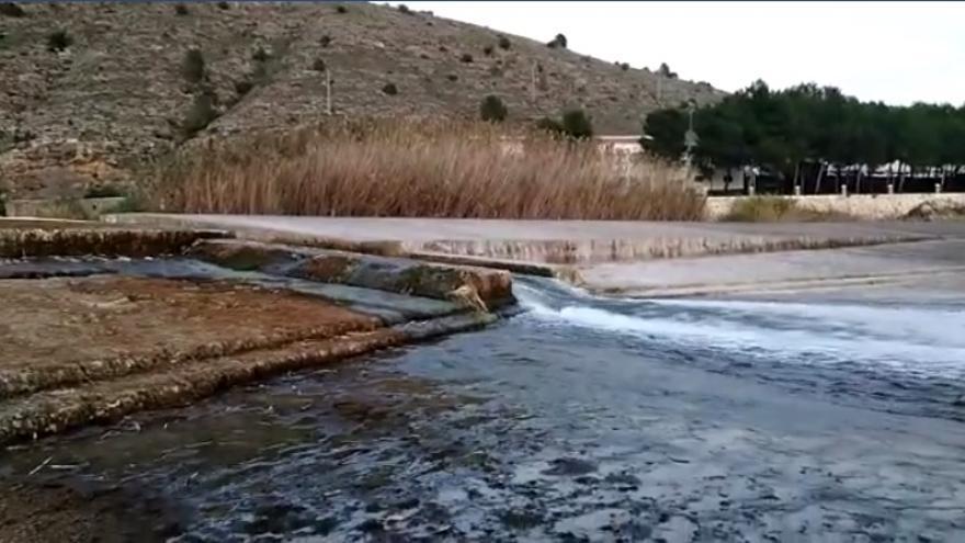 El río Júcar a su paso por el Azud de Antella