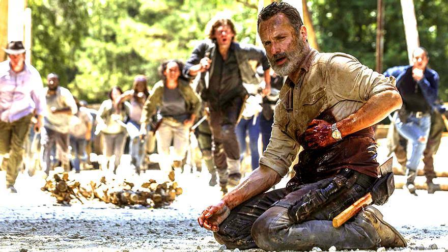 """Andrew Lincoln en el capítulo 9x05 de """"The Walking Dead"""""""
