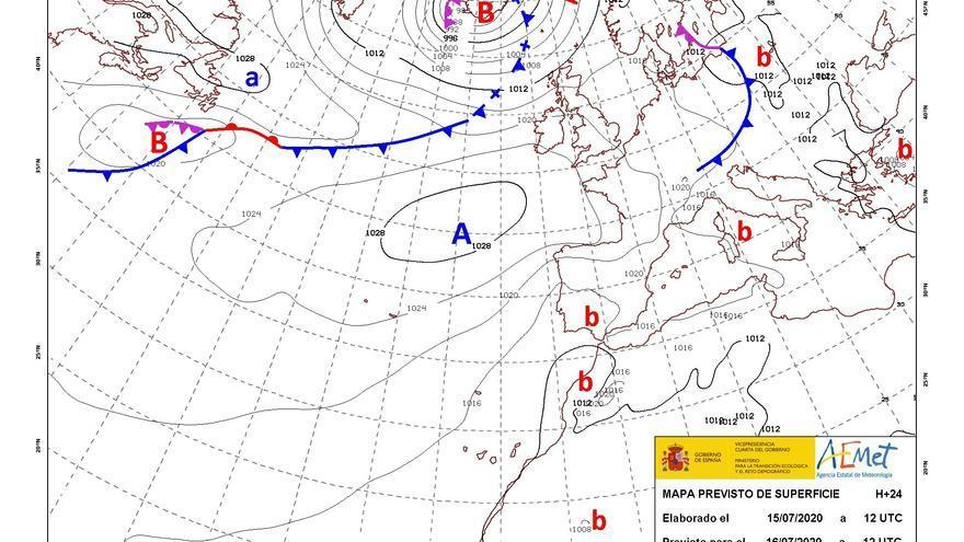 Temperaturas altas mañana en el sur de Galicia y en el suroeste del país