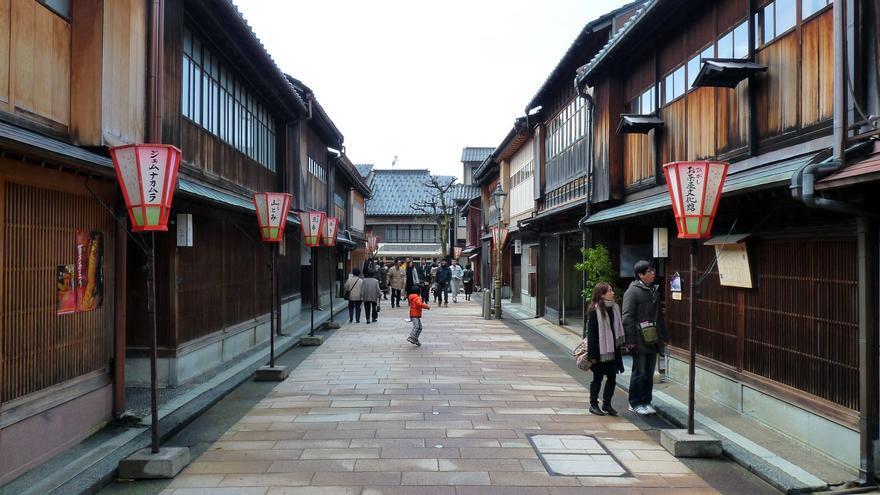 Calle tradicional en Kanazawa. DozoDomo